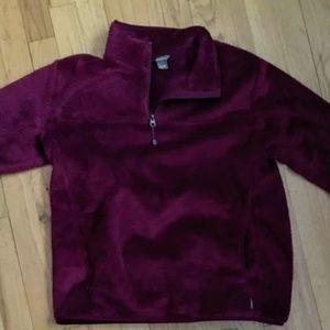 Eddie Bauer Magenta Pullover Fleece